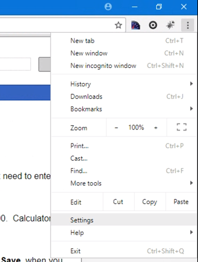 how to open preferences in chrome